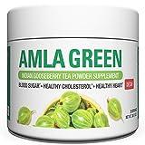 Organic AMLA GREEN Tea Powder – Great Tasting, 20x Concentrated Amla + Oolong Tea Antioxidant Blend – Raw, Vegan, Organic, Non-GMO, Amla Powder (30 servings, Decaffeinated)