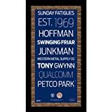 MLB San Diego Padres Subway Sign Wall Art with Authentic Dirt from Petco Park, 9.5x19-Inch