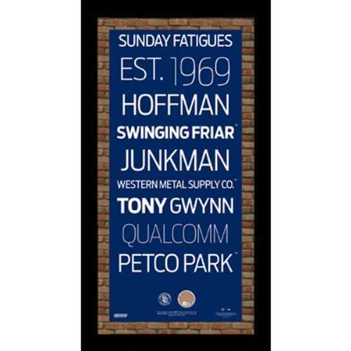 MLB San Diego Padres Subway Sign Wall Art with Authentic Dirt from Petco Park, 9.5x19-Inch (San Diego Padres Fan Banner)