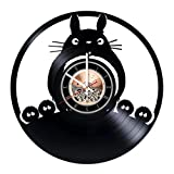 Movie Collection Vinyl Record Wall Clock - Get unique Kids room wall decor - Gift ideas for children, teens, sister and brother – Fantasy Film Unique Art