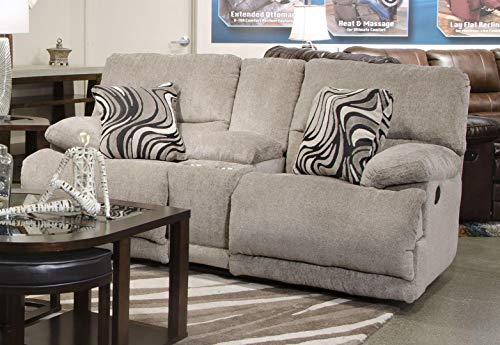 """Catnapper Jules Collection 2209 1724-18/2860-18 79"""" Reclining Console Loveseat with Storage, in Phantom"""