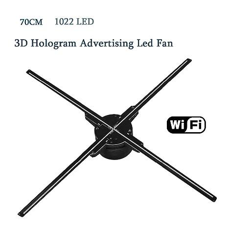 70Cm WiFi 3D Proyector holográfico Ventilador Holograma ...