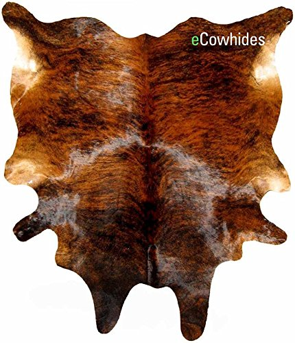 Brindle CowHide Rugs - For Living Room, Decor for Home and Office, Durable and Versatile Floor Cover (X-Large) by eCowhides