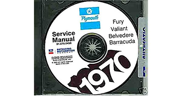1970 PLYMOUTH REPAIR SHOP SERVICE MANUAL CD For Barracuda