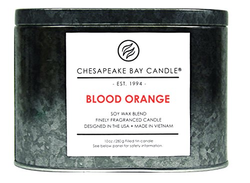 Chesapeake Bay Candle Tin with Double Wick Scented Candle, Blood Orange