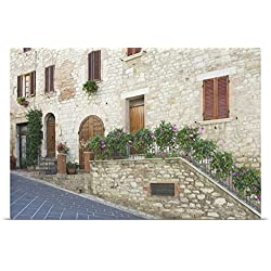 Rob Tilley Poster Print entitled Europe, Italy, Umbria, Corciano, Old World House in Historic District