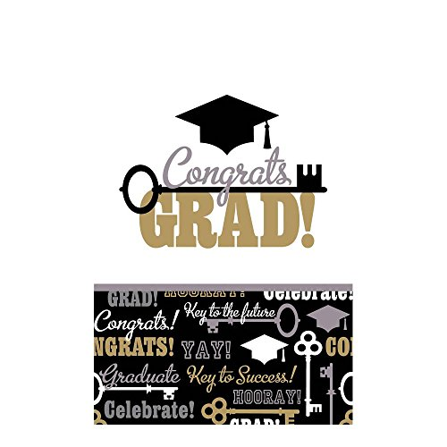 Graduation Key - Keys To Success Graduation Plastic Table Cover Package of 3