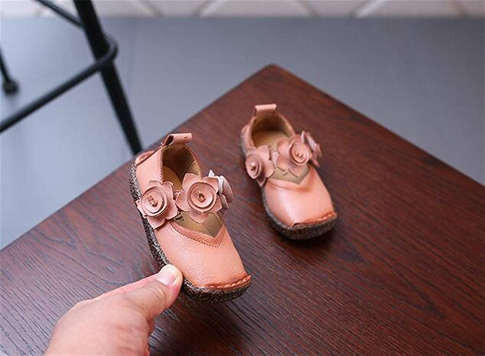 Fancyww Little Girl Dress Shoes Ballet Mary Janes Flats with Flower