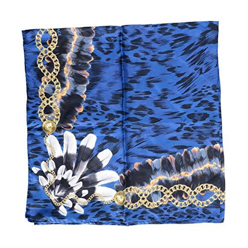 Versace Silk Scarf - Versace Women's 100% Silk Multi-Color Graphic Scarf