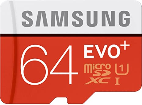 Samsung 64GB Evo Plus Class 10 Micro SDXC with Adapter 80MB/S (MB-MC64DA/AM)