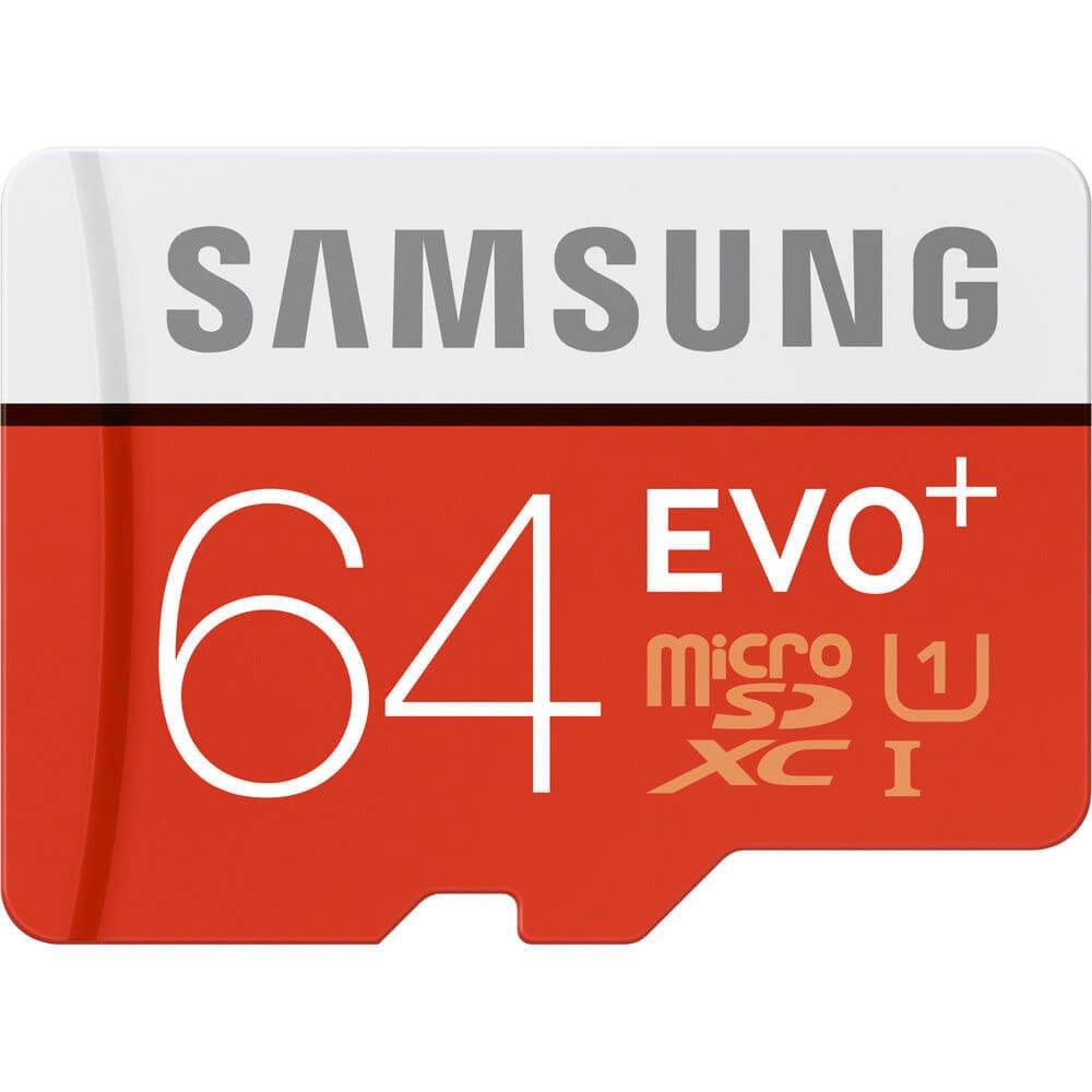 Samsung 64GB EVO Plus Class 10 Micro SDXC with Adapter 80mb/s (MB-MC64DA/AM)