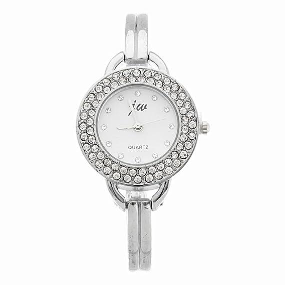 BLACKMAMUT Reloj Para Mujer Correa Tipo Pulsera Correa de Metal Color  Plateado Contorno con Incrustaciones de Fantasía  Amazon.com.mx  Relojes 75f9a451a7a2