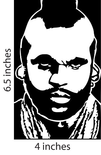 Price comparison product image MR T. Stickers Cut Vinyl Decal A-team Laurence Tureaud Pity the Fool