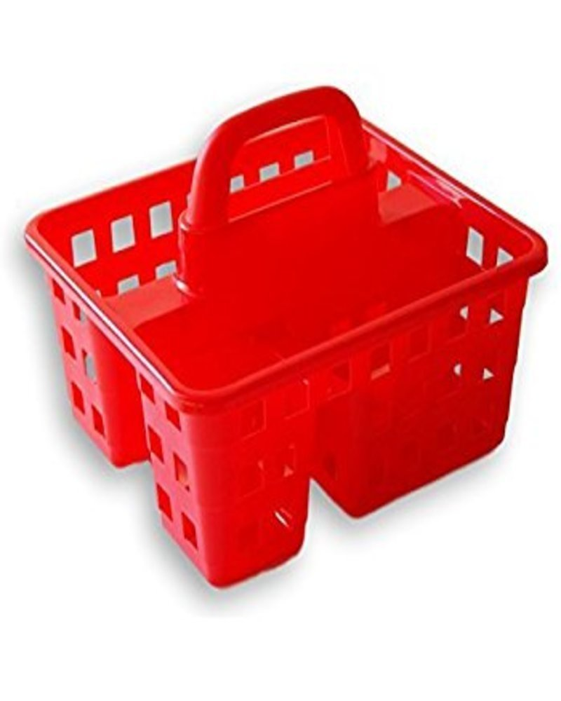College Dorm 3 Compartment Plastic Shower Caddy/Tote 8x10x7 (Red) | eBay