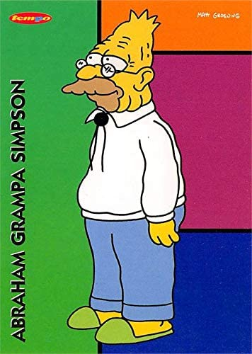 Abraham Simpson Grandpa Trading Card The Simpsons 1996 Tempo 3 At Amazon S Entertainment Collectibles Store