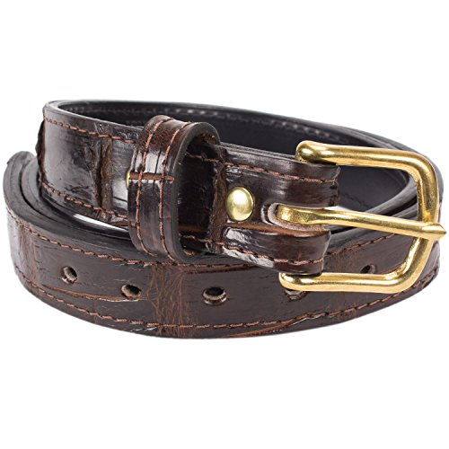 Alligator Genuine Belt (Genuine Alligator Leather Belt - 1.25