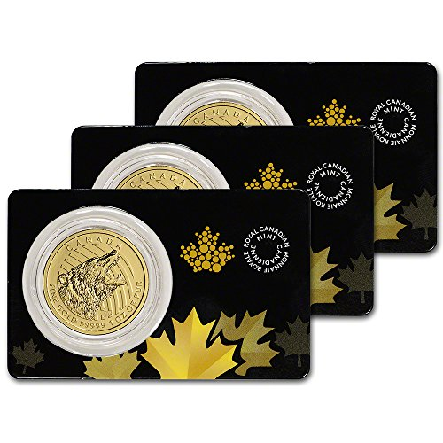 CA 2016 Canada Gold Grizzly Bear (1 oz) Three (3) in Sealed Assay Brilliant Uncirculated