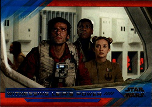 2018 Topps Star Wars The Last Jedi Series 2 Blue #31 Witnessing Leia's Power Collectible Movie Trading Card