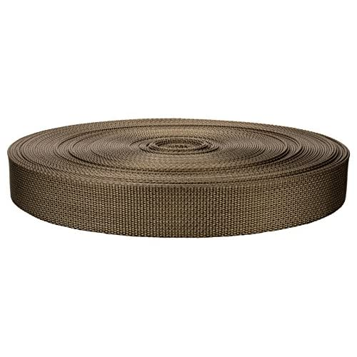 1 Inch Marpate Coyote Tan Lite Weight Nylon Webbing Closeout - 10 yards supplier