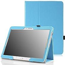 MoKo Samsung Galaxy Tab S 10.5 Case - Slim Folding Cover Case for Samsung Galaxy Tab S 10.5 Inch Android Tablet, Light BLUE (With Smart Cover Auto Wake / Sleep)