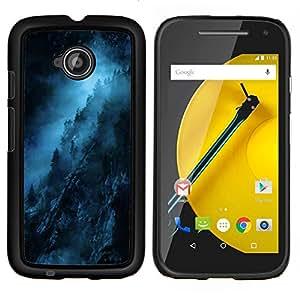 Stuss Case / Funda Carcasa protectora - Noche Azul Negro misterioso oscuro - Motorola Moto E2 E2nd Gen