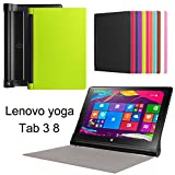 Lenovo Yoga Tab 3 8 Case, Ultra Thin Stand Folio Tablet Case with Auto Sleep / Wake Function, Vistore Premium Custer Texture PU Leather Cover Case for Lenovo Yoga Tab 3 8 inch tablet(850F)(Green)