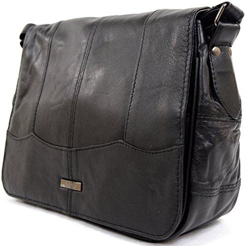 Damenhandtasche/Schultertasche aus weichem Nappaleder, klein