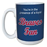 Tree-Free Greetings lm44078 Braves Baseball Fan Ceramic Mug with Full-Sized Handle, 15-Ounce