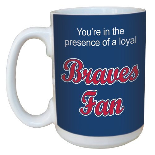 - Tree-Free Greetings lm44078 Braves Baseball Fan Ceramic Mug with Full-Sized Handle, 15-Ounce