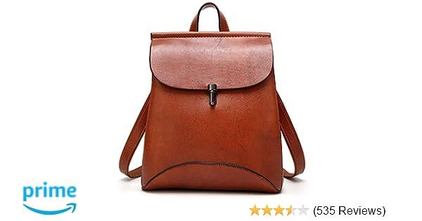 833394b78 Amazon.com: SiMYEER Women's Pu Leather Backpack Purse Ladies Casual Shoulder  Bag School Bag for Ladies: Shoes