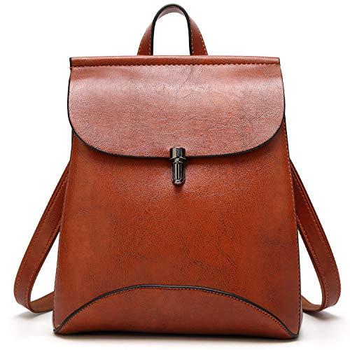 SiMYEER Women's Pu Leather Backpack Purse Ladies Casual Shoulder Bag School Bag for Ladies