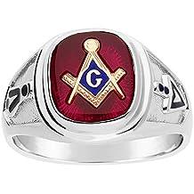 Sterling Silver Blue Lodge Masonic Ring.