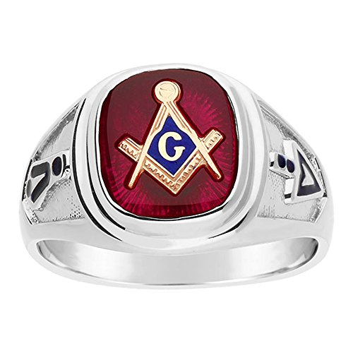 Sterling Silver Blue Lodge Masonic Ring. (13)