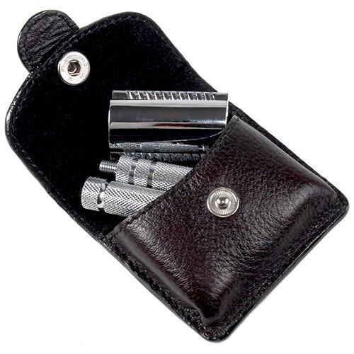 Parker A1R - 4 Piece Travel Safety Razor & Leather Case