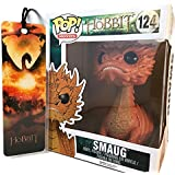 "Smaug 6"" by Funko POP Movies, The Hobbit Bundled w/ Battle of the Five Armies Premiere Bookmark"