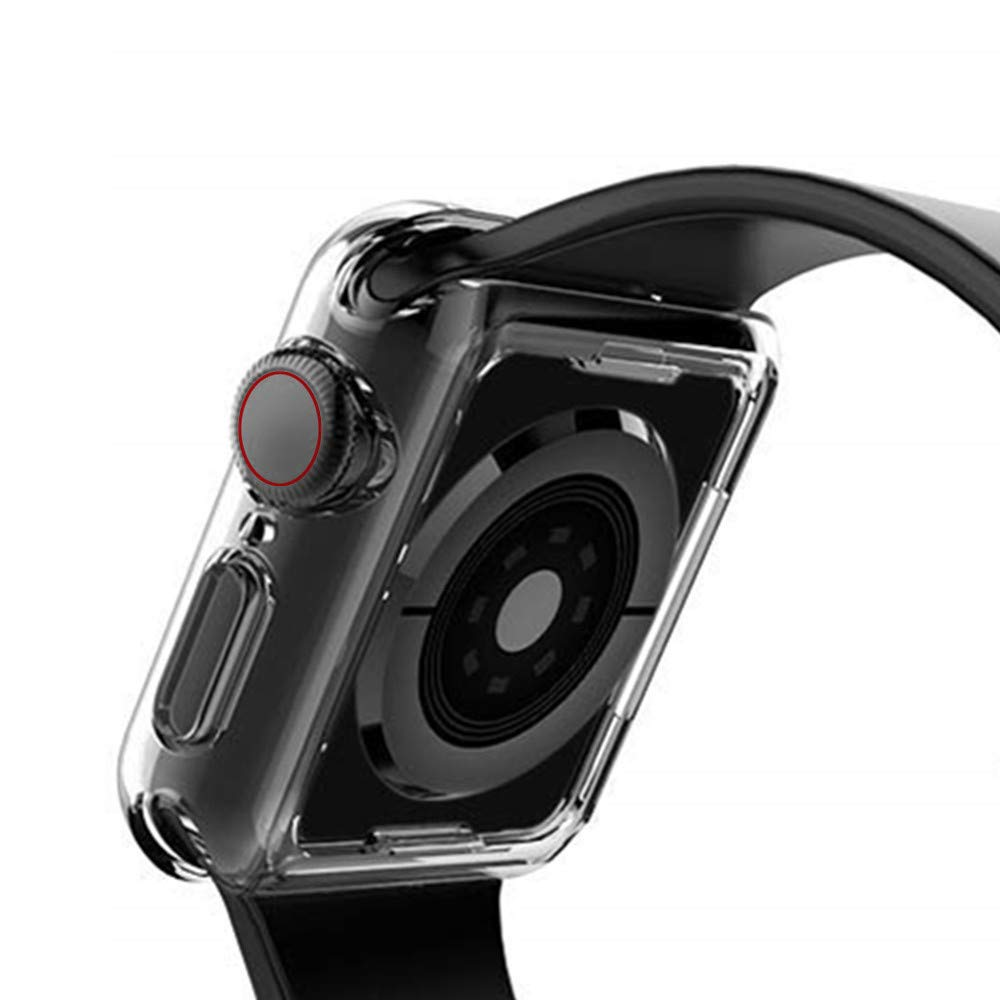 Sandistore Compatible with Apple Watch Case 40mm/44mm Series 4, Soft TPU Screen Protector All-Around Protective 0.3mm HD Clear Ultra-Thin Cover Case for iWatch Series4 40mm/44mm (40mm) by Sandistore Sport (Image #6)