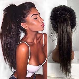 Helene Hair Nueva moda Natural Derecho Peluca Brasileño Virgen Cabello Humano Cabello frente del cordón Pelucas con el pelo del bebé para Mujer 130% Densidad ( 16 Pulgada )
