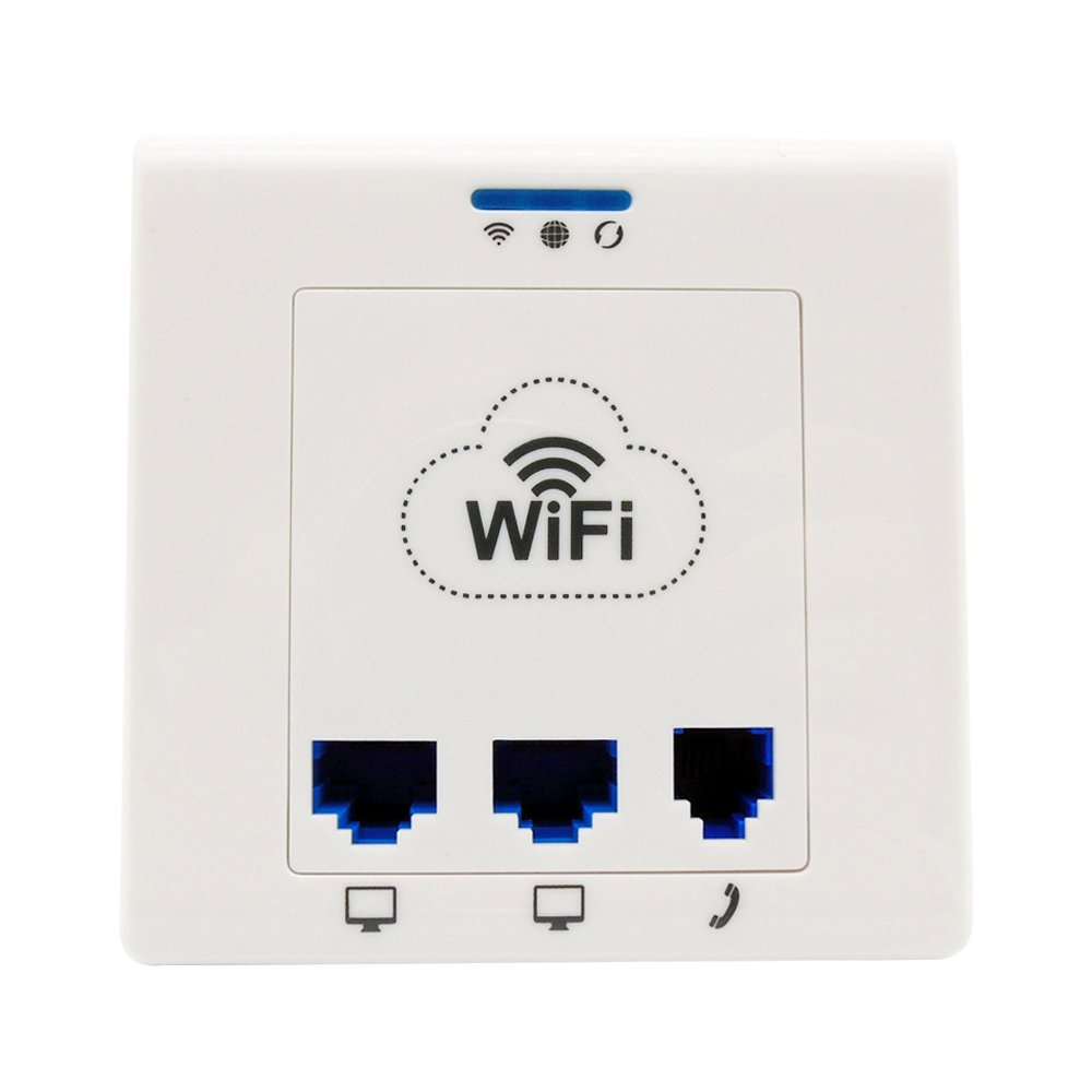 In-wall Wireless AP (Access Point), PoE 802.3AF-compliant, Wall Socket Wi-Fi Extender Applied in Hotel/Dormitory / Office Rooms etc (M550)