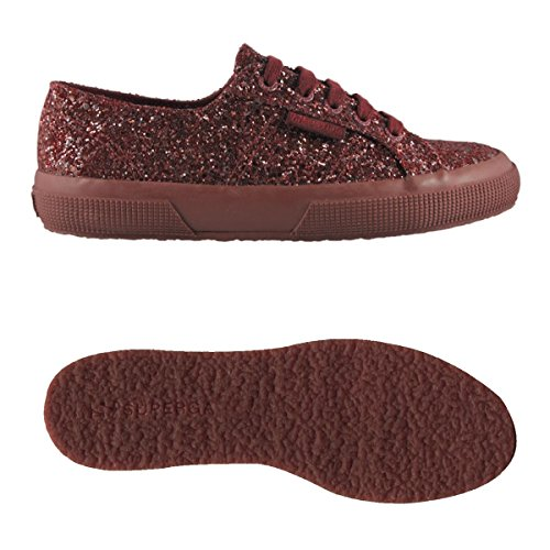 Basso 2750 Collo A Superga macroglitterw Donna Full Bordeaux Sneaker qdIwqXfa