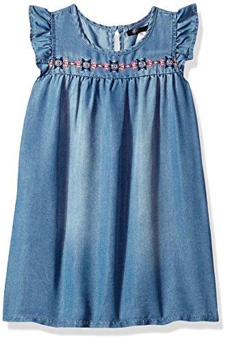 kensie Girls' Little Casual Dress (More Styles Available), Medium Blue Denim KY11, 5 from kensie