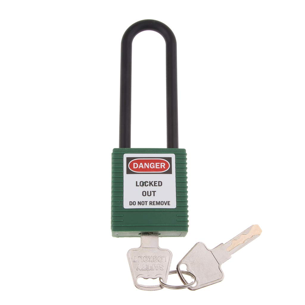 7 Colors for Choose gazechimp Heavy Duty Safety Padlock Lockout Tagout Lock with Insulated Shackle Keyed Different 125mm