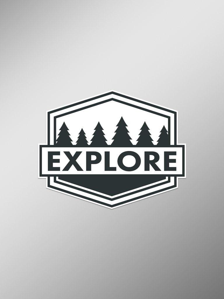 Explore Wanderlust Vinyl Decals Stickers (Two Pack)   Cars Trucks Vans Windows Walls Laptop Cups   Printed   2-4 Decals   KCD1458