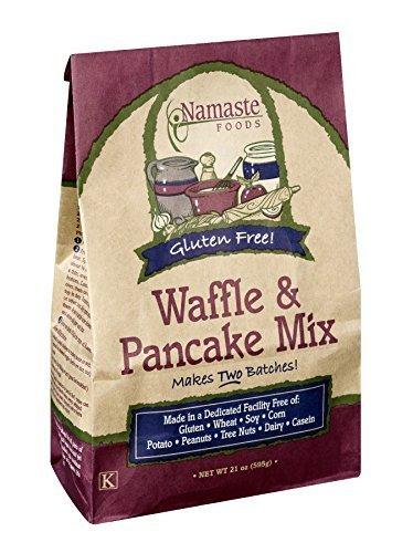 Namaste Foods Gluten Free Waffle & Pancake Mix 21 OZ (Pack of 18) by NAMASTE FOODS
