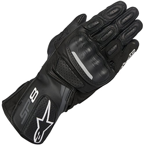 - Alpinestars SP-8 v2 Leather Gloves (Large) (Black/Grey)