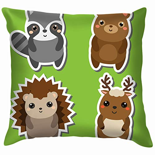 Cute Kawaii Forrst Animals Stickers Set Wildlife Cotton
