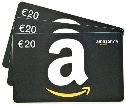 Amazon.de Geschenkkarte - 3 Karten zu je 20 EUR (schwarz)