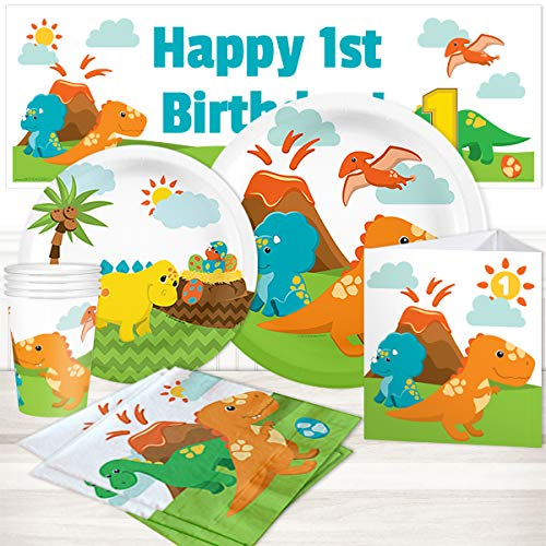 (Little Dinosaur 1st Birthday Party Package for 16)