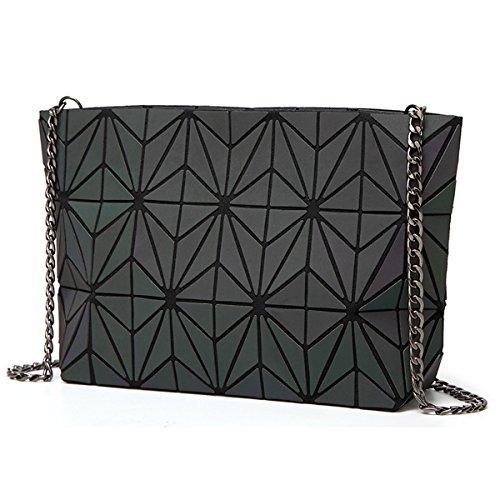 Youndcc Cross-Body Messenger Bag Shoulder Bag Evening Hangbag Purse, Metallic Strap, Noctilucent, Night Luminous