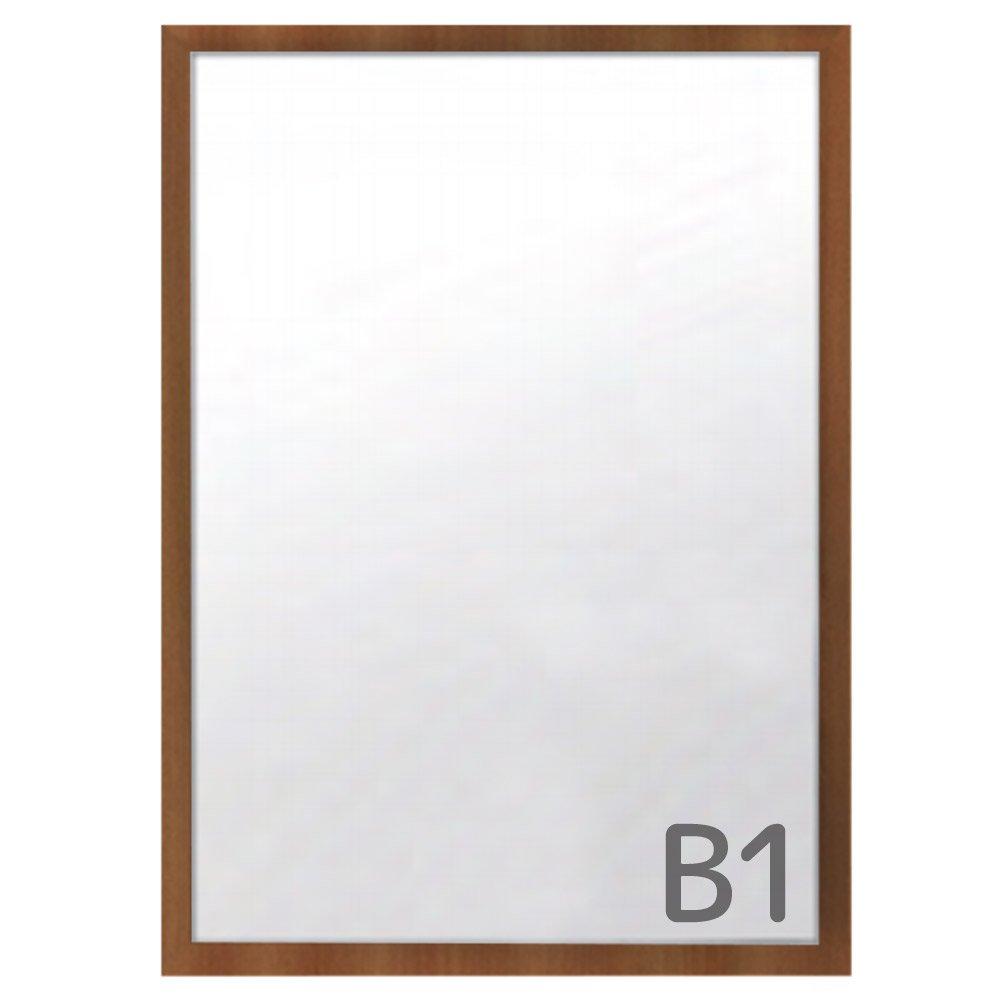 カスタムアルミフレーム ワイド30 B1サイズ【木目調】 WA-233 フレームの幅が広いポスターパネル 豊富なサイズカラー   B07D98FKG2