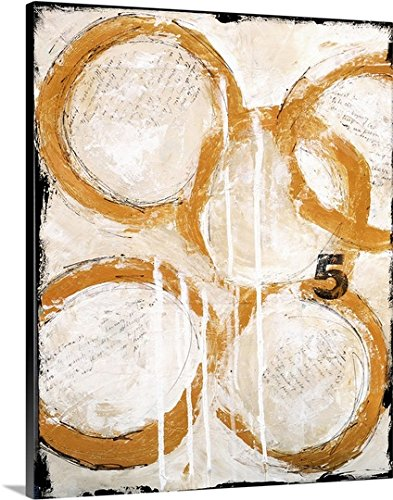 Erin Ashley Premium Thick-Wrap Canvas Wall Art Print entitled The Twelve Days of Art - Five Golden Rings (5 Five Golden Rings)